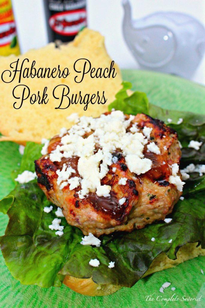 Habenero Peach Pork Burgers