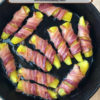 Cast Iron Skillet Bacon Wrapped Pickles