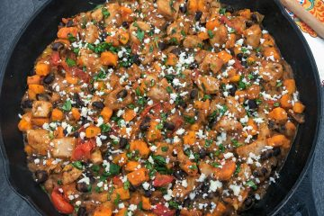 Mexican inspired Chicken Sweet Potato skillet dinner