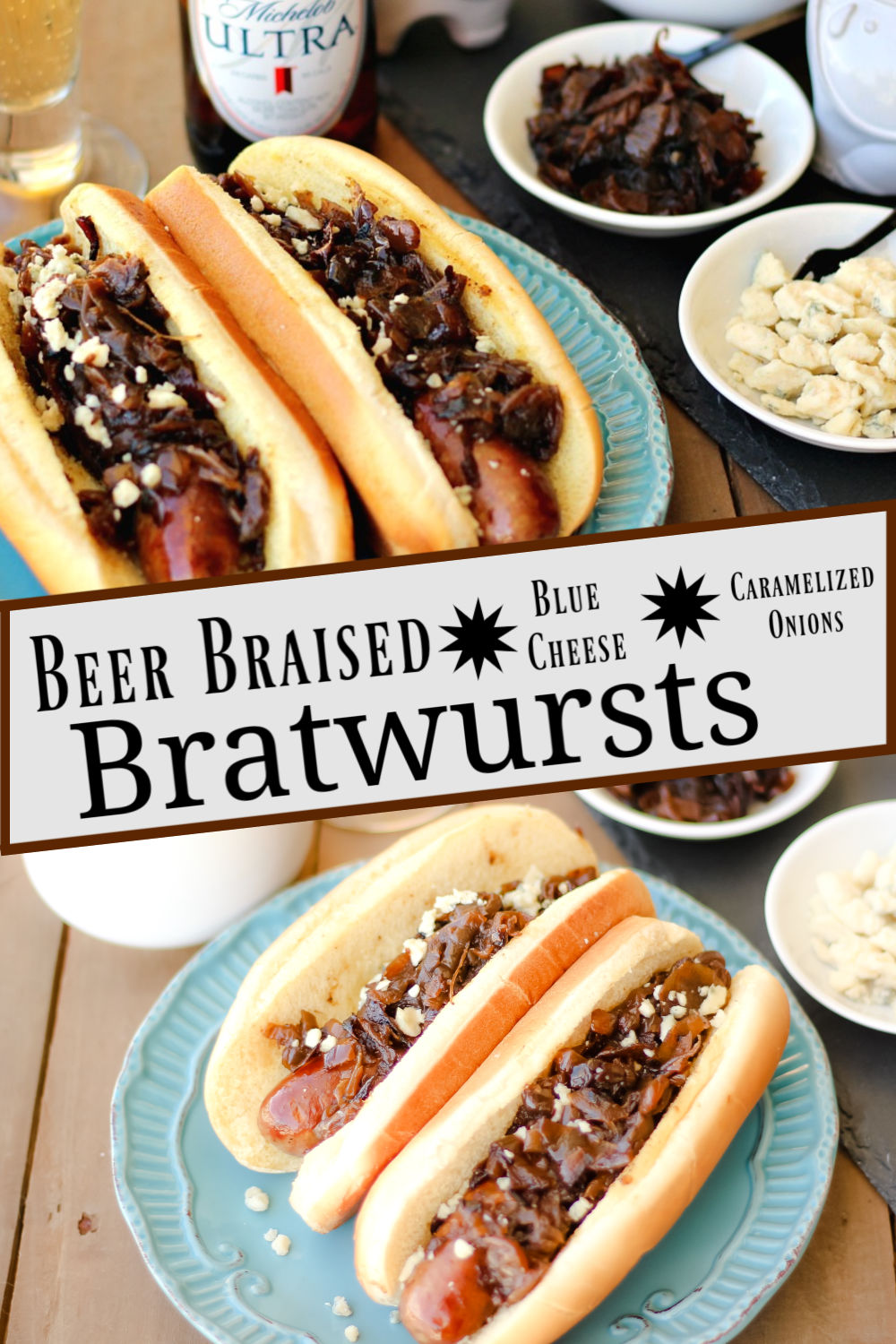 Branded image for the The Complete Savorist of Beer Braised Blue Cheese Bratwursts