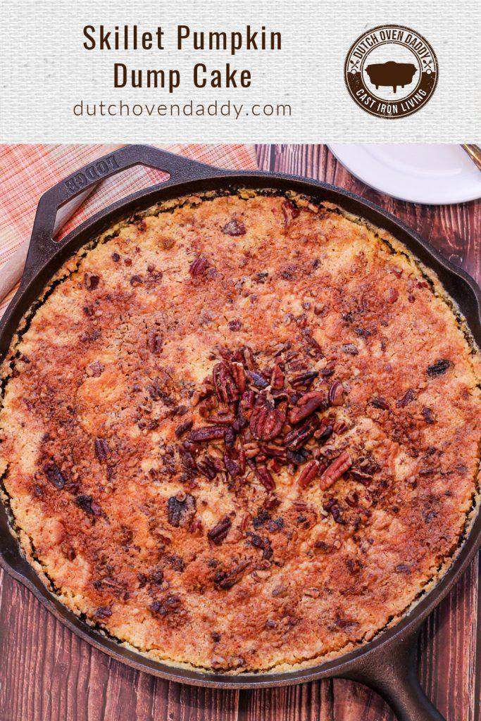 Branded image of Skillet Pumpkin Dump Cake